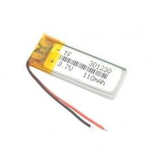 Акумулятор 301230 Li-pol 3.7 В 110мАч для MP3 Bluetooth навушників гарнітур