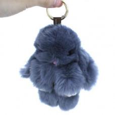 Брелок Кролик Зайчик хутряний пухнастий м'який на рюкзак сумку 15см
