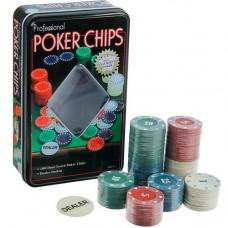 Набір фішок для покеру, 100шт фішки з номіналом в метал коробці