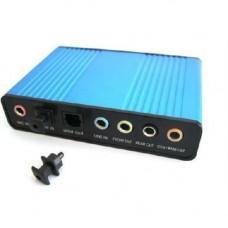 Зовнішня USB звукова карта 5.1 S/PDIF, апаратна CM6206