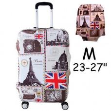 Чохол для дорожньої валізи на валізу захисний 23-27 M, London-Paris