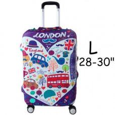 Чохол для дорожньої валізи на валізу захисний 28-30 L, London