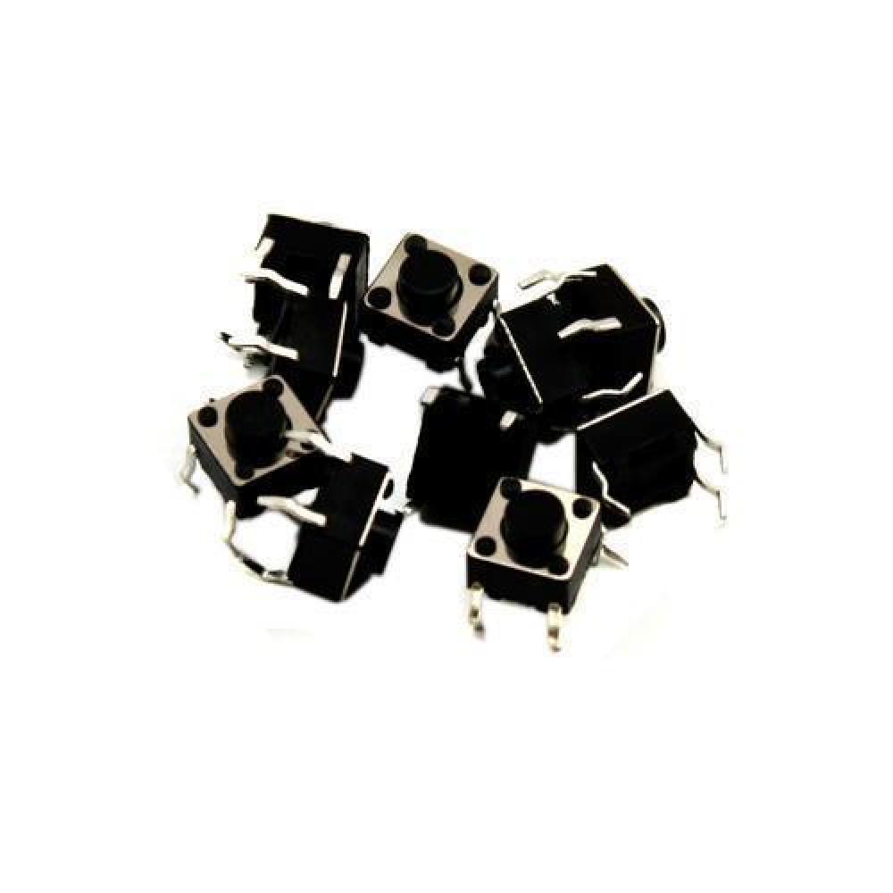 10x Кнопка тактова, мікрік, DIP 4 контакту, 6х6х5мм