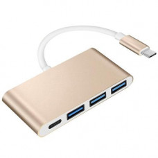 USB 3.1 Type-C хаб розгалужувач на 3x USB 3.0 + Type-C для харчування