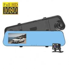 Автомобільний відеореєстратор з камерою заднього виду, 1080p, дзеркало