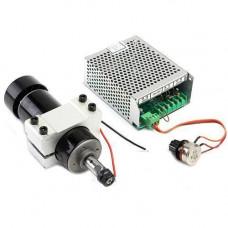 Шпиндель 500 Вт для ЧПУ верстата + хомут + БЖ з регулятором обертів