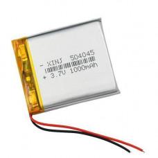 Акумулятор 504045 Li-pol 3.7 В 1000мАч для RC моделей DVR GPS MP3 MP4