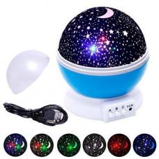 Світильник нічник-проектор зоряного неба, що обертається Star Master