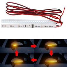 LED покажчики повороту дзеркала Гнучкі 15см Динамічні, жовті, пара