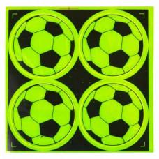 10x Світловідбиваючі наклейки стікери для одягу дитячі, футбольний м`яч
