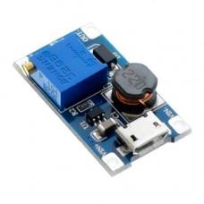 Підвищуючий перетворювач напруги DC-DC MT3608 до 28В з MicroUSB вх