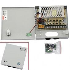 Блок живлення в металевому ящику для камер CCTV, 6-кан 12В 5А 60Вт