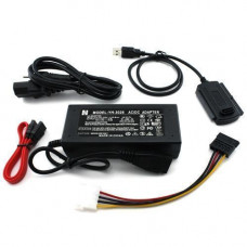 Перехідник USB - SATA, IDE, 2.5/3.5 + блок живлення