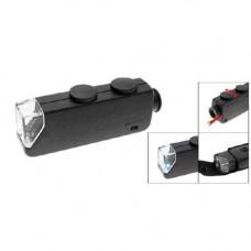 Мікроскоп 60-100X кишеньковий, лупа з підсвіткою