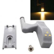 Світлодіодна LED підсвічування меблів шафи на меблеву петлю, теплий білий