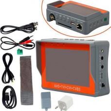 Монітор манжета для встановлення налаштування камер 4в1 AHD TVI CVI CVBS з PTZ