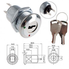 Ключ-вимикач перемикач електро замок з ключем для РЕА KS-02