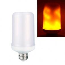 Лампа світлодіодна декоративна з ефектом полум'я вогню E27 LED 9Вт