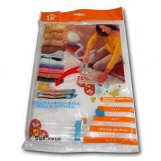 Вакуумний пакет мішок для зберігання одягу речей 70х110см