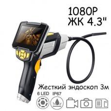 Відеоскоп відеоендоскоп 1080p IP67 жорсткий кабель 3 метри Inskam 112