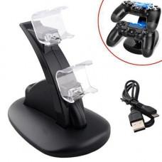 Зарядна док станція для зарядки 2 геймпадів DualShock 4 PS4