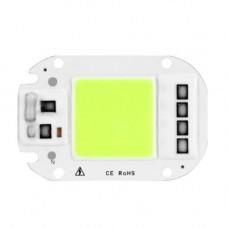 Світлодіодна матриця з драйвером COB LED 50Вт 4500лм 220В, зелена