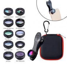 Набір з 10 лінз об'єктивів для смартфона APEXEL APL-DG10