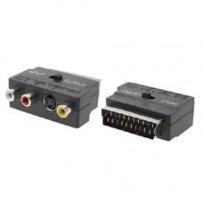 RGB Scart - Композитний 3 RCA + S-Video перехідник