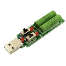 USB навантажувальний резистор, навантаження зі свічом 1А/2А/3А