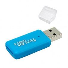 USB 2.0 MicroSD TF T-Flash кардрідер картрідер міні, кольорові