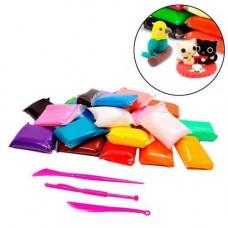 Моделін 36 кольорів, повітряний пластилін, маса тісто для ліплення