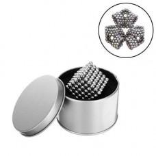 Неокуб конструктор-головоломка магнітні кульки, срібний
