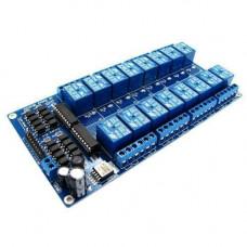 16-канальний модуль реле 12В для Arduino PIC ARM