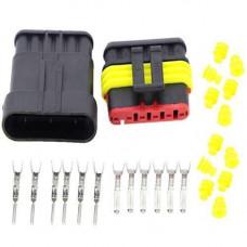 Роз'єм автомобільний електричний герметичний DJ7061-1.5 комплект 6 pin