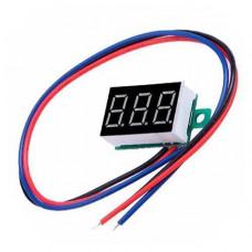 Цифровий вольтметр 4.5-30В LED вимірювач напруги вольтажа