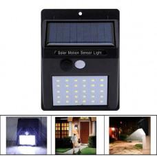 Вуличний LED ліхтар світильник на сонячній батареї, 30 SMD, настінний