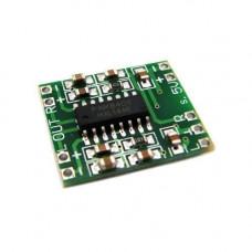 Аудіо підсилювач потужності звуку 2х3Вт, D-клас PAM8403A