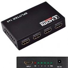 HDMI 1x4 порту спліттер, розгалужувач, комутатор