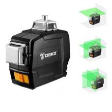 Професійний лазерний рівень нівелір 12 ліній АКБ Deko DKLL12PB1