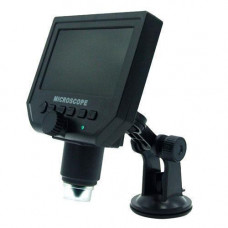 Мікроскоп цифровий з 4.3 РК дисплеєм, акумулятором, MicroSD, 1-600X