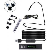 10м Wi-Fi / USB камера 1600x1200, 8мм, бороскоп ендоскоп, жорсткий кабель