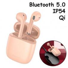 Бездротові навушники гарнітура з кейсом Baseus Encok W04 Pro Bluetooth Рожеві