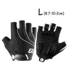 Рукавички велосипедні без пальців гелієві L, 8.7-10.2 см, RockBros S107