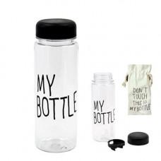 Бутылка My Bottle 500мл пластик прозрачная с дозатором + чехол