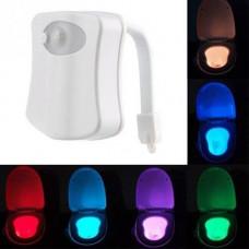LED підсвічування унітазу з датчиками освітленості і руху, 8 кольорів