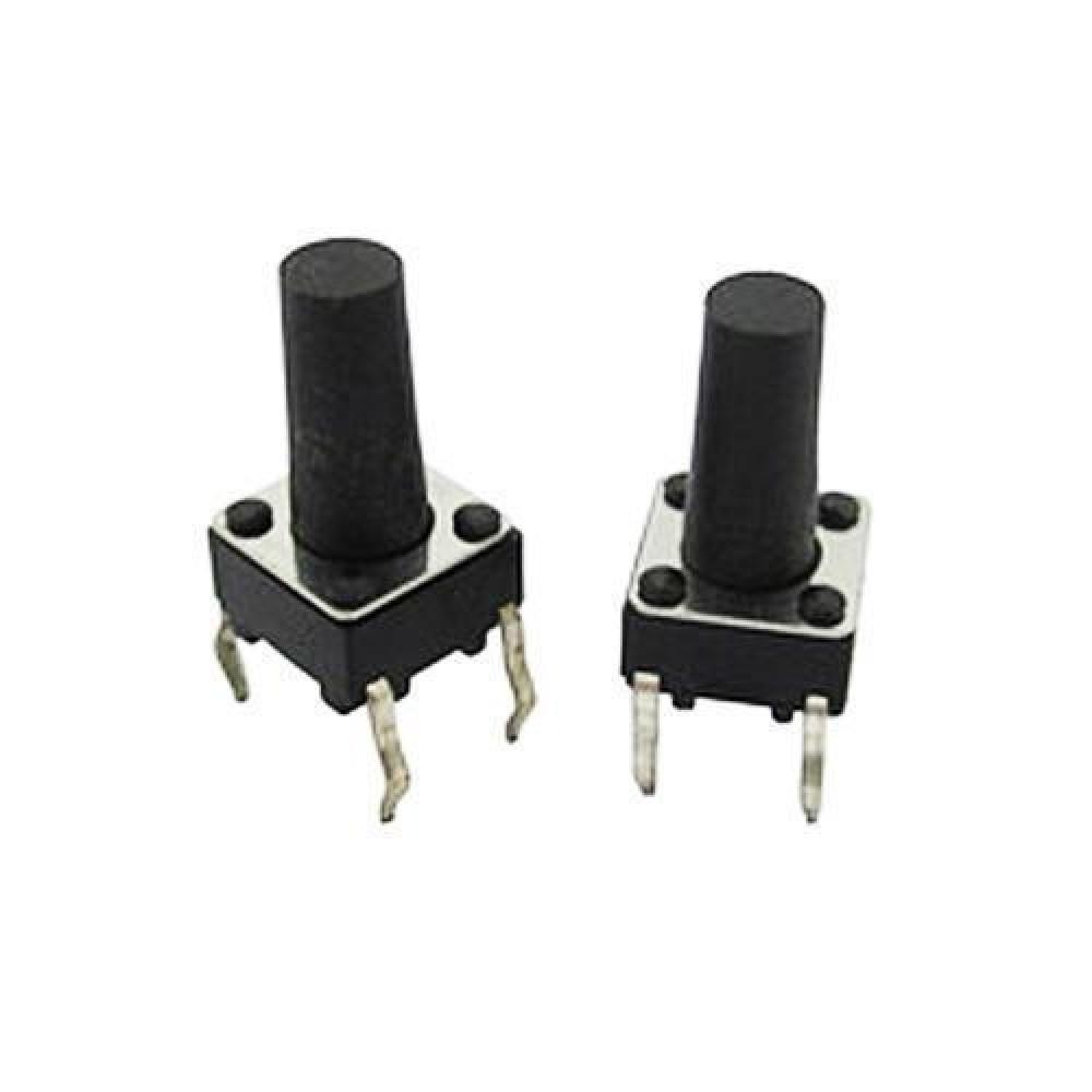 10x Кнопка тактова, мікрік, DIP 4 контакту, 6х6х12мм