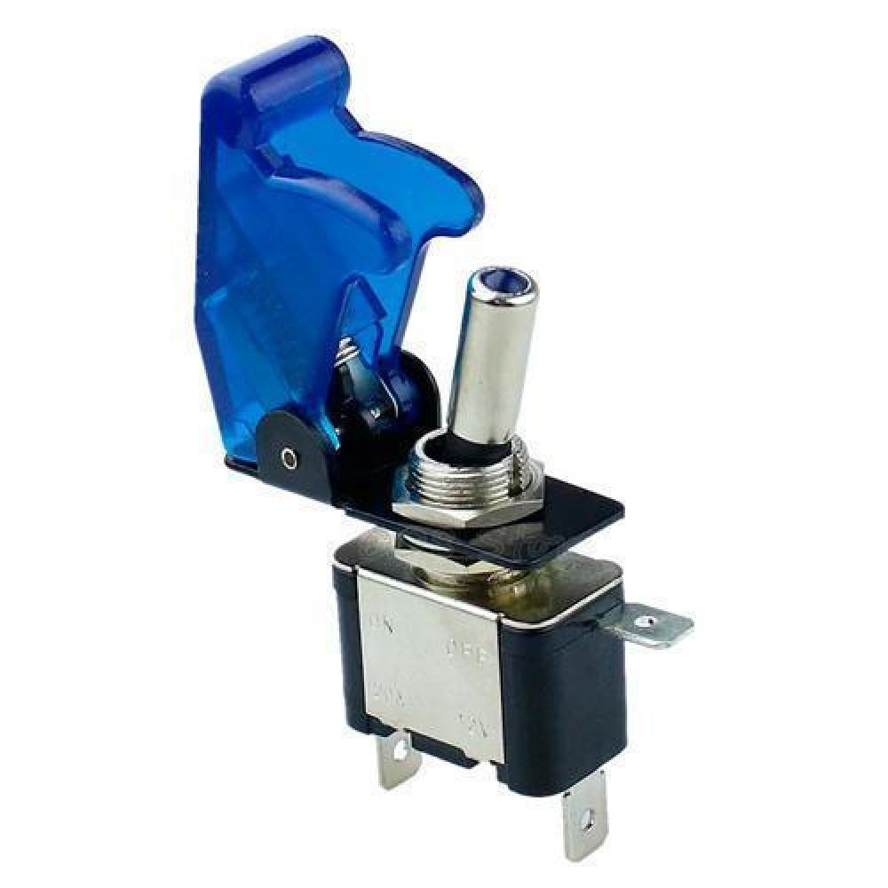 Перемикач, тумблер, вимикач живлення 12В 20А LED, синій