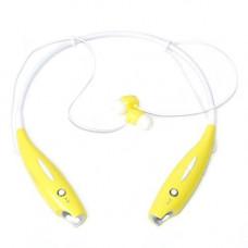 Навушники безпровідні Bluetooth гарнітура HBS-730 з шийним ободом, жовті