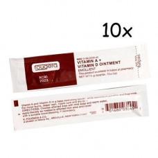 10x Крем цілющий мазь для тату з вітамінами A D 5г Fougera