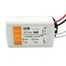Блок живлення LED драйвер трансформатор AC-DC 220-12В 18Вт для LED-стрічок